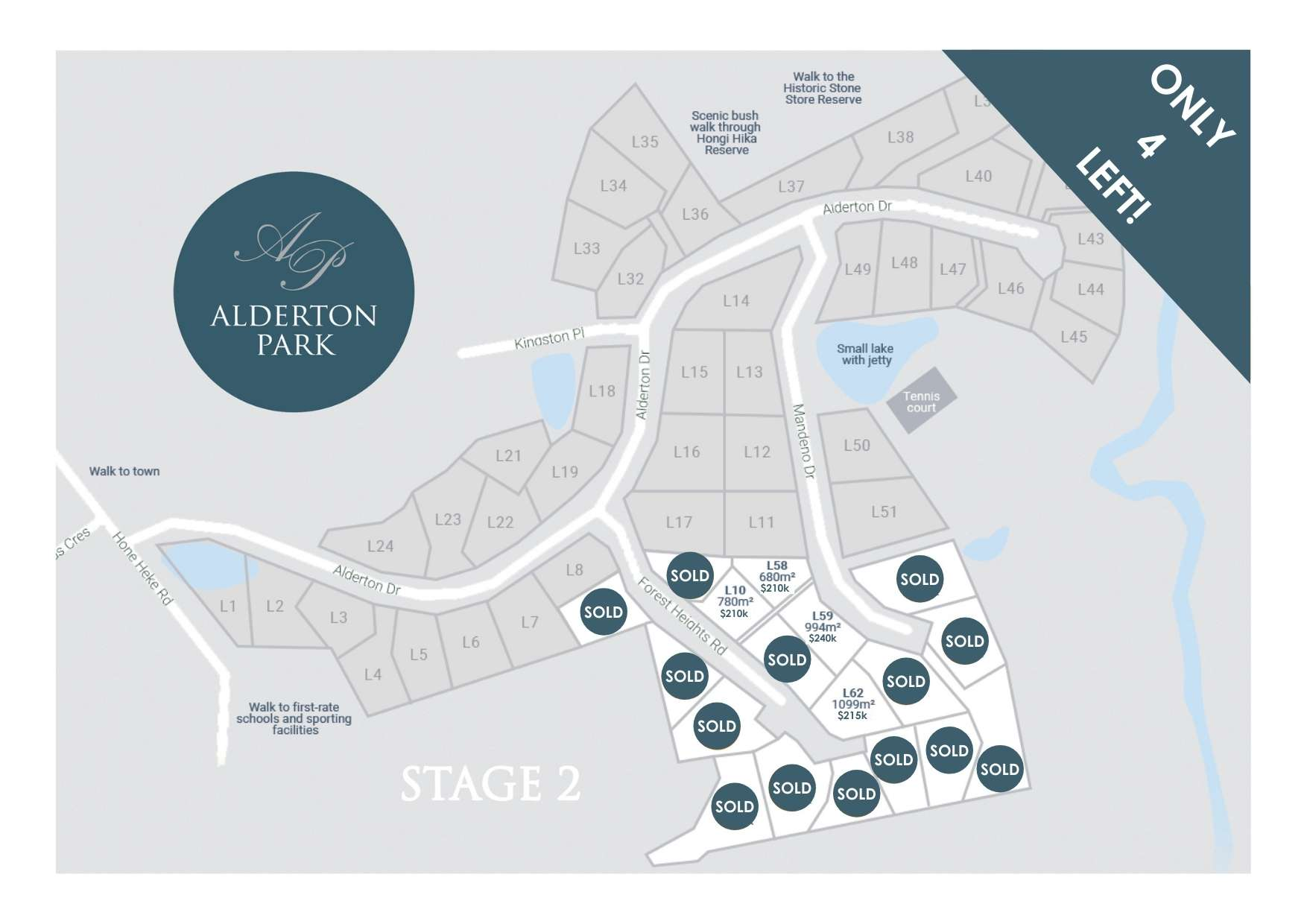 Alderton Park Lot Map